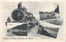 COMO - SALUTI A GRANDE VELOCITA' DA COMO. FP VG 1930 - Como