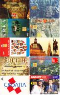 10 Télécartes Usagées Différentes. (CT17) - Croatie