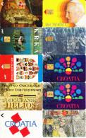 75 Télécartes Usagées Différentes. (CT21) - Croatie