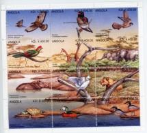 Angola 1996-Oiseaux, Tortue,giraffe,éléphants, Lion,canard-1015/26***mnh