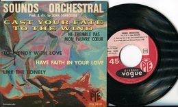 """Sounds Orchestra""""EP Vinyle""""Cast Your Fate To The Wind""""By John Schroeder - Jazz"""