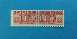 1968 ITALIA FRANCOBOLLO NUOVO STAMP NEW MNH** - SERVIZI PACCHI IN CONCESSIONE 150 LIRE - - Paquetes En Consigna