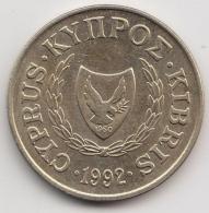 @Y@   Cyprus   5 Cents   1992  Unc      (3351) - Chypre
