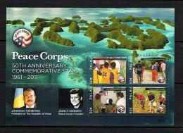 Palau 2011 Sc # Bf 1061  MNH **  John F. Kennedy, Peace Corps Founder