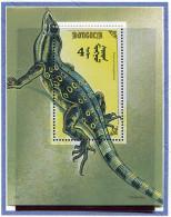 Mongolie ** Bloc N° 162 - Reptile : Varan -