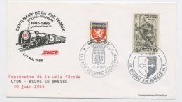 """FRANCE :  N° Yvert 618+572 OBLI. CACHET À DATE ROND DE """"PHILATELIE BOURG EN BRESSE DU 4/5/1985"""" & DE """"PHILATELIE LYON R - Cachets Manuels"""