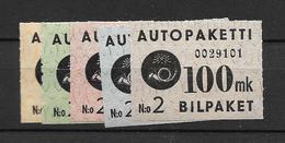 1949 MH Finland, Auto-paket 1-5