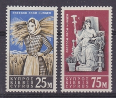 Cyprus 1963 Freedom From Hunger 2v ** Mnh (32827) - Nuovi