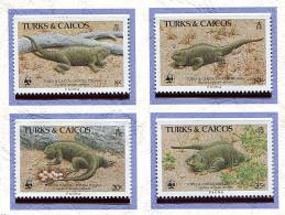 Turks Et Caiques ** N° 758 à 761 - Iguane De Terre -