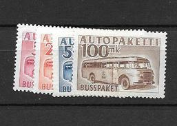 1952 MNH Finland, Auto-paket 6-9