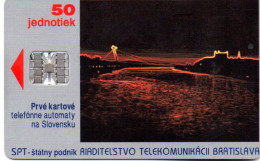 """(Gm4) Slowakei Telefonkarte 1990 (50) Ungebraucht """"Die Donau Bei Bratislava"""" - Slowakei"""