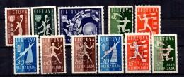Lituanie YT N° 362/365, N° 362A/365D Et N° 370/372 Neufs *. B/TB. A Saisir!
