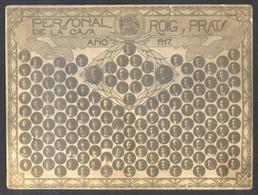 *Personal De La Casa Roig Y Prats. Año 1917* Foto Anónima. Meds: 110 X 147 Mms. - Foto
