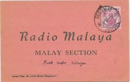 LCTN43B- MALAYSIA CARTE DE RADIOAMATEUR - Malaysia (1964-...)