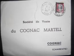 Algerie , Lettre D Alger 1962 Pour Cognac , Surcharge EA, Dechire - Algeria (1924-1962)