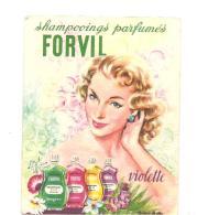 Rare Calendrier De 1958 FORVIL Shampooings Parfumés FORVIL Violette - Calendriers