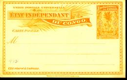 BELGIAN CONGO  1897 ISSUE STIBBE 15 UNUSED - Entiers Postaux