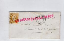 87 -FEYTIAT LIMOGES -LETTRE 1894 DE LARIVIERE FEYTIAT A NOUALHIER DEPUTE MAIRE -TIMBRE 10 C BISTRE EMPIRE N°13 OB. 1730 - France