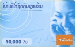 Mobilecard Laos - Lady,Frau,woman - Telefonieren - Laos