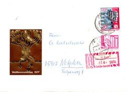 RDA. N°1896 De 1977 Sur Enveloppe Commémorative Ayant Circulé. Journée Des Télécommunications.