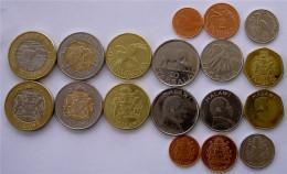 MALAWI 1995-2006 SERIE 9 MONETE CON 2 BIMETALLICHE 10-5-1 KWACHA 50-20-10-5-2-1TABALA - Malawi