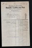 75, PARIS, RELEVE DE FACTURES, MAXIME CLAIR & SES FILS, 1913 - France