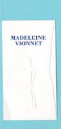 Cartes Parfumées Carte MADELEINE VIONNET - Modern (from 1961)