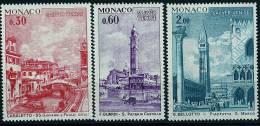 """Monaco YT 887 à 889 """" UNESCO Sauvegarde De Venise 3 TP """"  1972 Neuf **"""