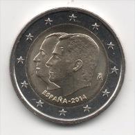 ESPAGNE - 2€ Commémorative 2014 - Changement De Chef De L'Etat - LUXE - Spagna