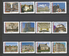 #  France / Adhesif / N° 1202 à 1213 Oblitéré / Nos Belles Mairies De France / Année 2015 / Lot N° 171 Serie - France