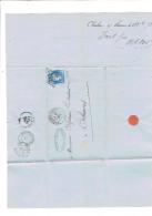 FACTURE 1872 CHALON SUR SAONE MAISON PORET FRERES POUR MAISON COUTADEUR A ORLEANS - France