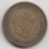 @Y@    Spanje   1 Peseta  1953     (3358) - [ 5] 1949-… : Koninkrijk