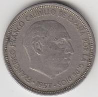 @Y@    Spanje   5 Pesetas  1953     (3361) - [ 5] 1949-… : Koninkrijk
