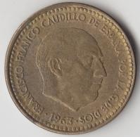 @Y@    Spanje   1 Peseta  1963     (3364) - 1 Peseta