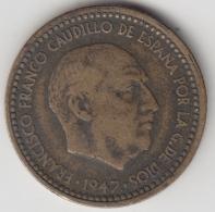 @Y@    Spanje   1 Peseta  1947     (3365) - [ 5] 1949-… : Koninkrijk