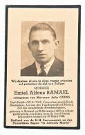 Doodsprentje Emiel Alfons RAMAEL Echtg. Julia Geens Oud-Strijder 1914-1918 Mortsel 1897 - 1946 - Devotion Images