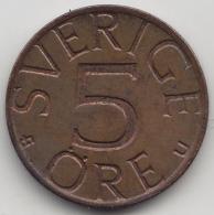 @Y@    Zweden   5 Öre  1977      (3374) - Zweden