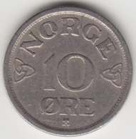 @Y@    Noorwegen  10 Öre  1954     (3377) - Noorwegen