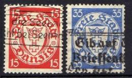 Danzig 1925 Mi 214-215, Gestempelt [261016XIII]