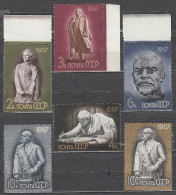 Russia USSR 1967 Mi# 3339-3343 3408 Lenin In Sculpture MNH * *