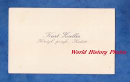Carte De Visite Ancienne & Signature - Kurt ZOELLER - Königliche Preussische Kadett - 1925 - Visiting Cards