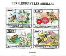 BURUNDI SHEET, LES FLEURS ET LES ABEILLES. FLORES Y ABEJAS. PERFORADO NUEVO. - Burundi