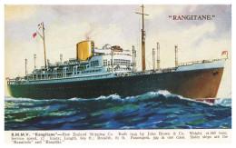 "STEAMERS - ""RANGITANE""- R.M.M.V. ""Rangitane"" 21868Tons( Ed. Valentines SHIP Series Nº 1790) Carte Postale"