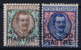 Italy: Levant  Sa  18 + 19    MH/* Falz/ Charniere  1908 - Europese En Aziatische Kantoren