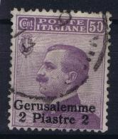 Italy: Levant  Gerusalemme Sa  5  Used Obl. - 11. Auslandsämter