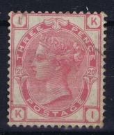 Great Britain SG 144 MH/*  1873 Mi 41  Plate 20 Fold