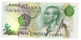 Ghana 2 Cedis 1977, UNC. Free Ship. To USA. - Ghana
