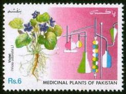 1992 Pakistan Banafsha, Violet, Medicinal Plants Series, Agriculture, Flower, Chemistry (1v) MNH (PK-43)