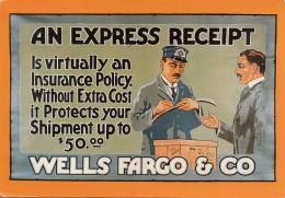 Werbekarte WELLS FARGO & CO, Karte Gel.m.Sondermarke - Werbepostkarten