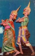 THAILAND Tänzerinnen In Thailändischer Tracht, Gel., Sondermarke - Thaïland